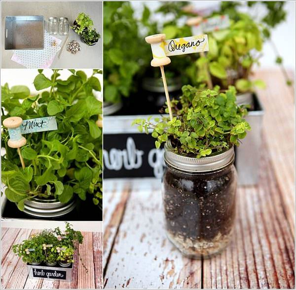 Pallet Herb Garden Diy Mason Jars