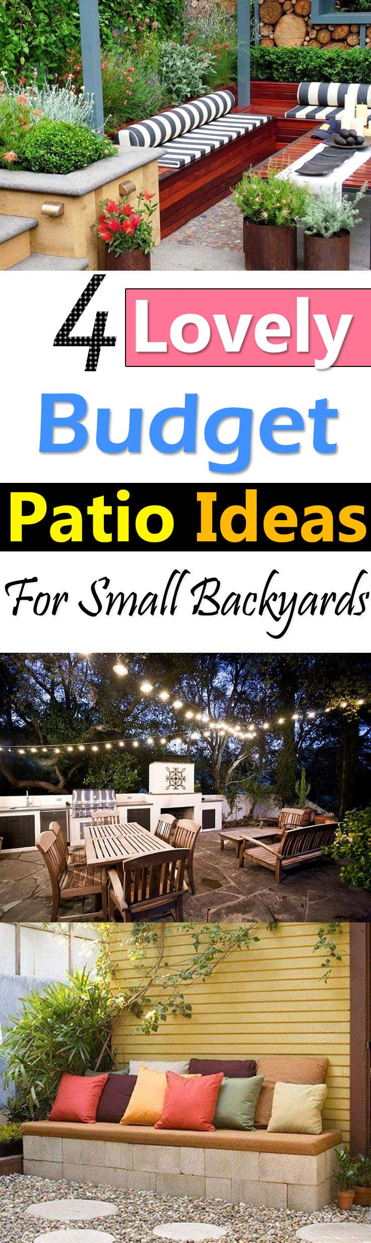 With these lovely patio ideas you can create a lovely Patio Area at cheap  cost. - 4 Lovely Budget Patio Ideas For Small Backyards Balcony Garden Web