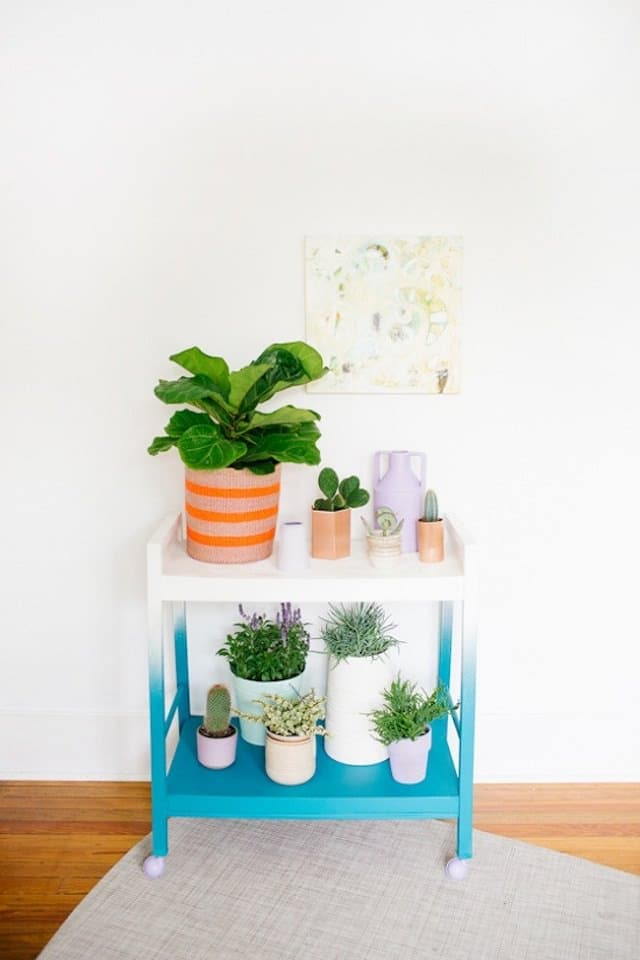make a vertical indoor garden out of it this is a great way to recycle your old tv stand and transform it to a living beauty