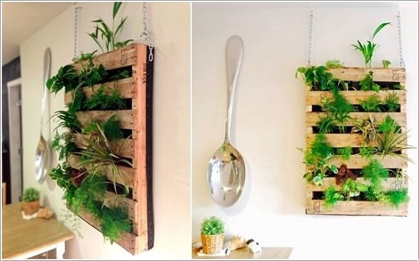 Indoor Gardening Ideas 15 indoor garden ideas for wannabe gardeners in small spaces apartment therapy Make A Hanging Indoor Vertical Garden With Recycled Pallets Besides This There Are So Many Other Things You Can Do With Pallets Read Our Post To Find Out
