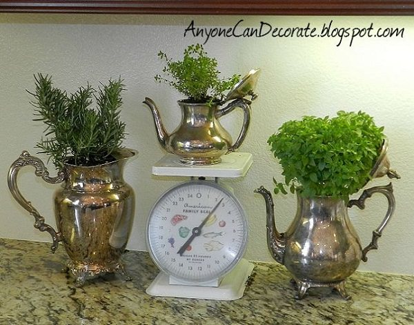 Indoor Tea Garden 14 fabulous upcycled indoor garden ideas balcony garden web vintage tea pots pitcher indoor planters workwithnaturefo