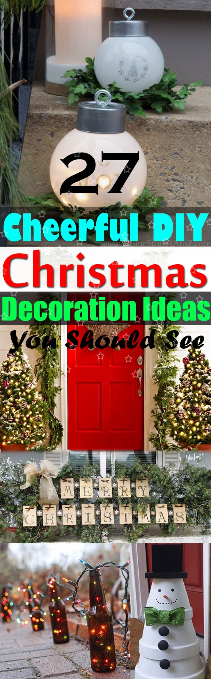 27 cheerful diy christmas decoration ideas you should look balcony pin it take a look at these 27 diy christmas decoration solutioingenieria Choice Image