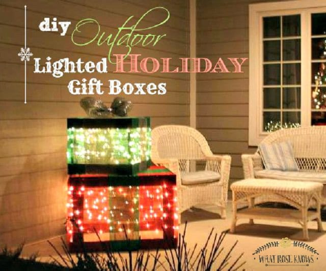 Diy Christmas Outdoor Decoration Ideas 15
