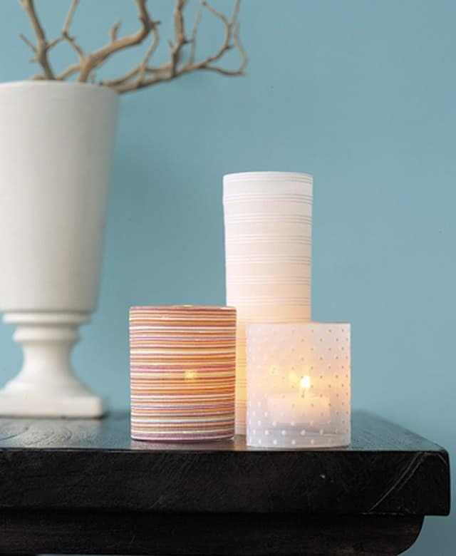 candle slipcover diy