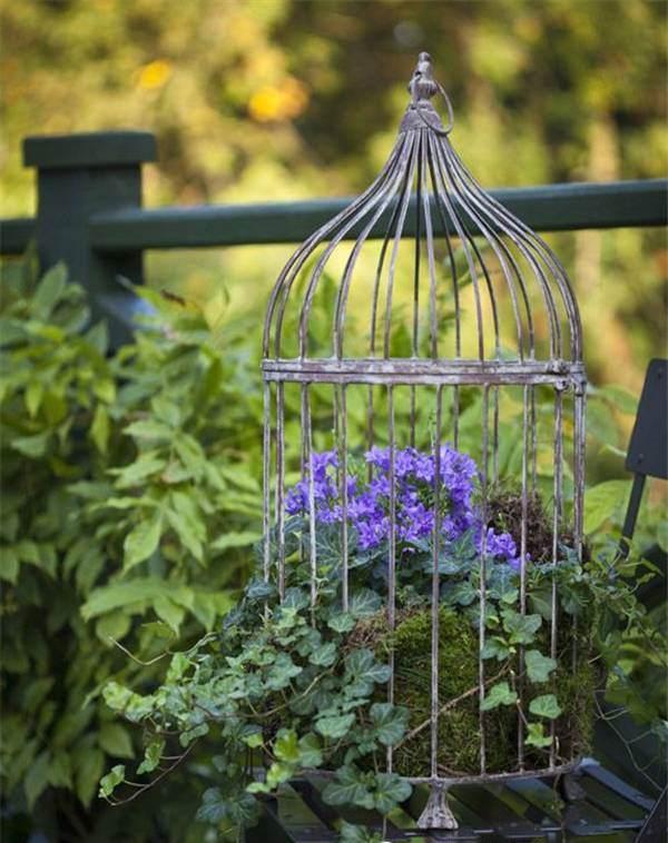 how to make a birdcage planter. Black Bedroom Furniture Sets. Home Design Ideas