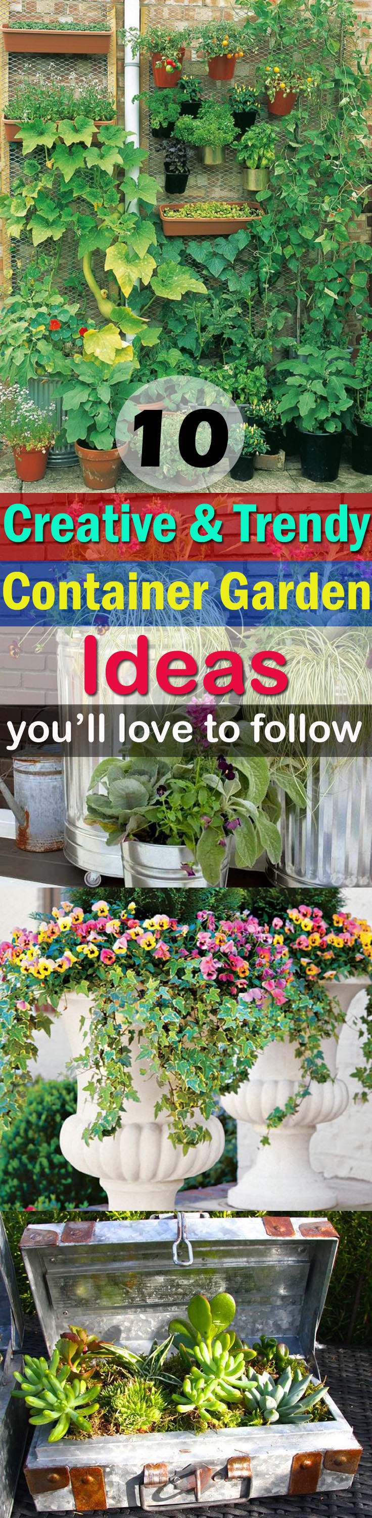 10 Creative and Trendy Container Garden Ideas You'll Love To ...