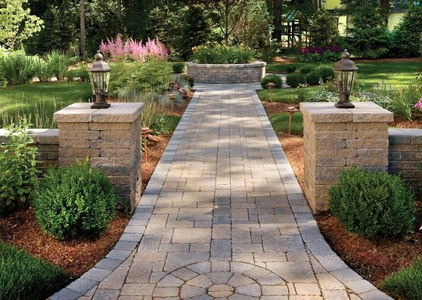 another cool diy garden path idea is to make use of pavers these are usually cut stone in the shape of rectangular bricks and lined up and placed tightly