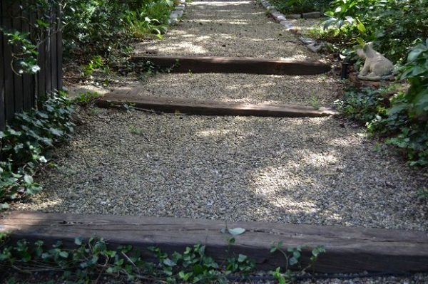 wooden step path