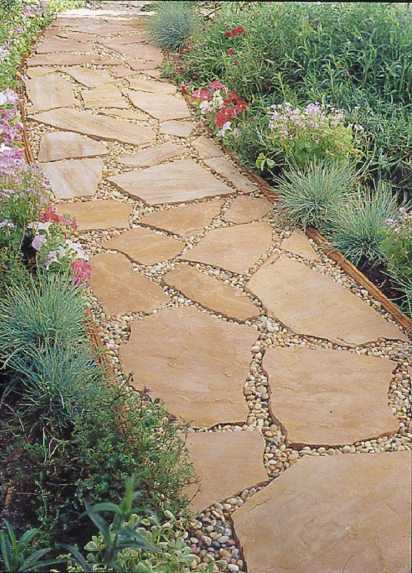 Lovely Flagstone Is An Ideal Stone Material To Be Used For Garden Or Lawn Paths.  It Usually Comes In A Reddish Or Orange Ish Color That Blends Well In The  Dry ...