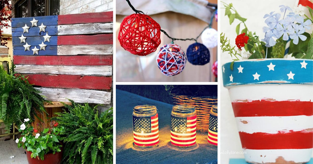 33 fabulous easy diy 4th of july decoration ideas for Decoration 4 july
