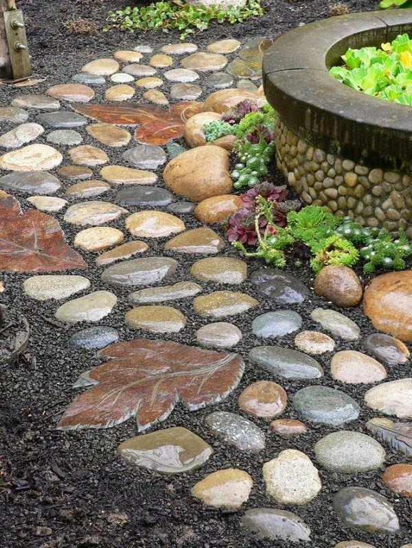 Paintings Of Cobblestone Paths : Diy garden path ideas with tutorials balcony web