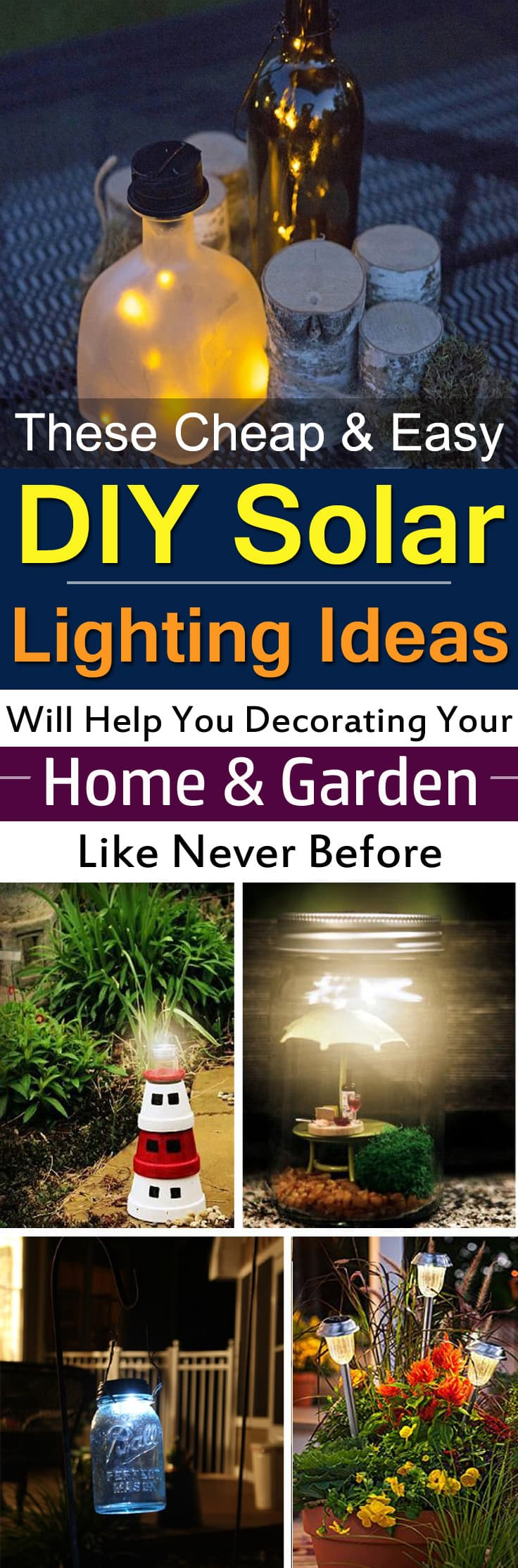 28 Cheap Easy Diy Solar Light Projects For Home Garden Balcony