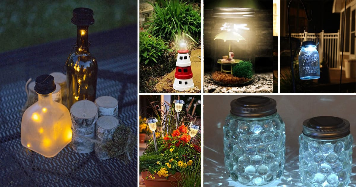 diy home lighting ideas. 28 Cheap \u0026 Easy DIY Solar Light Projects For Home Garden | Balcony Web Diy Lighting Ideas N