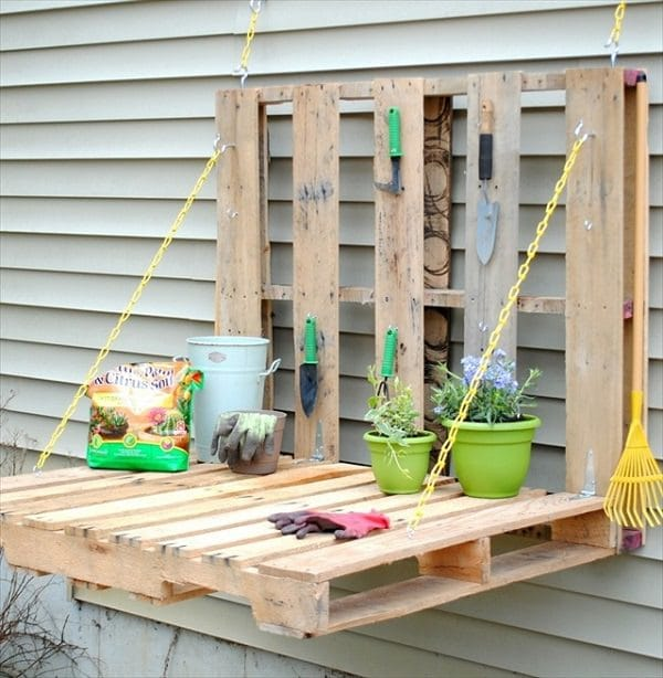 Storing gardening tools such as fowls chainsaws and shovels need a little organization. Old pallets can be repurposed in numerous ways and one of the ... & 21 Most Creative And Useful DIY Garden Tool Storage Ideas | Balcony ...