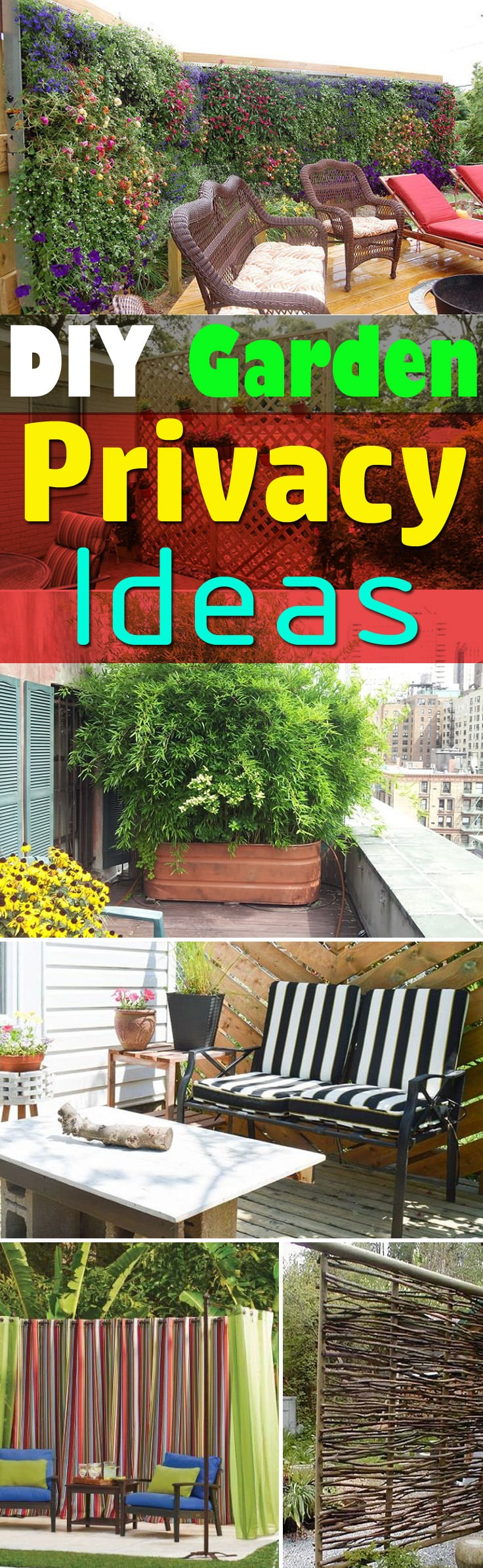 If You Need Privacy In Your Garden, The 26 DIY Garden Privacy Ideas Here Are