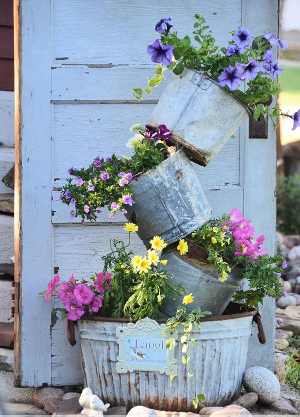 Rustic Flower Tower
