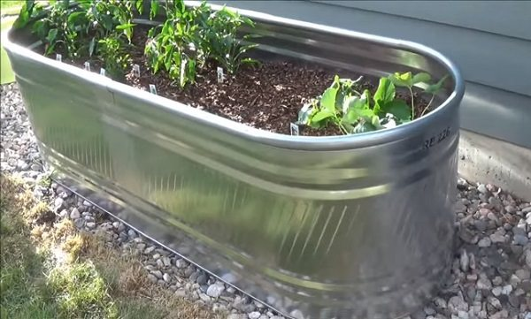 Galvanized Tubs Are Perfect Containers For Creating Raised Garden Beds.  They Are Inexpensive, Durable, Last Long And Enclose Enough Space To  Accommodate ...