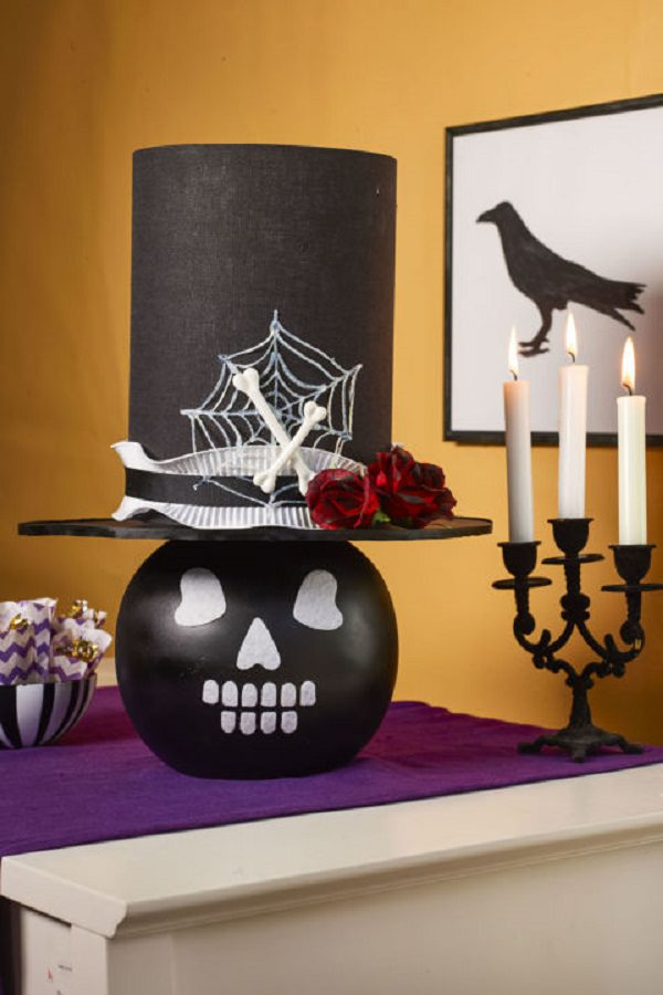 You may not want to read horror stories at bedtime with this DIY   spooktacular skull lamp  on your nightstand. 70  Best DIY Halloween Ideas For Home   Garden   Balcony Garden Web