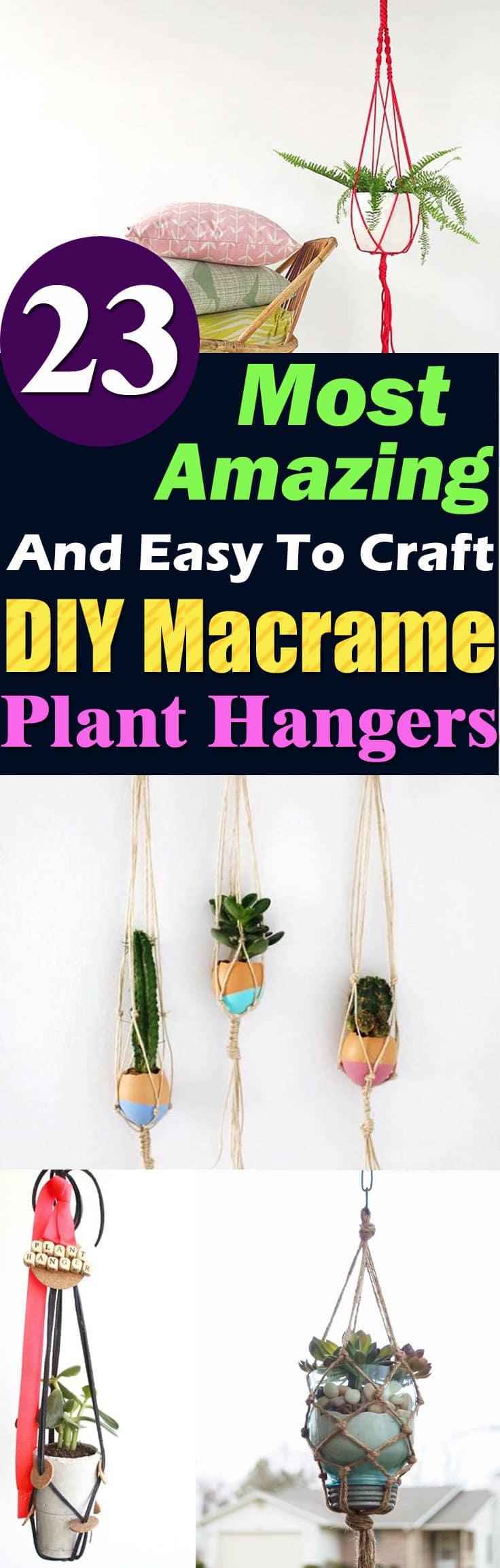 23 Most Amazing Macrame Plant Hangers Diy Ideas Balcony