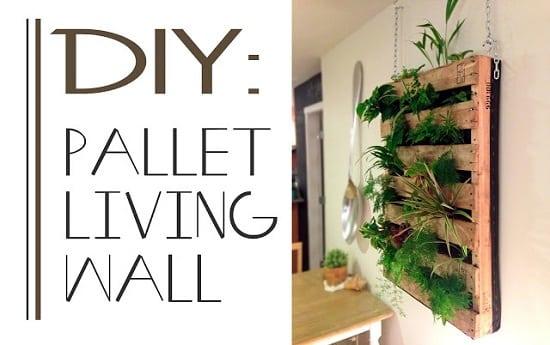 Pallet Living Wall Vertical Gardens