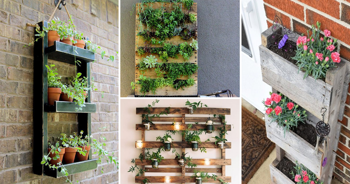 Grow more plants indoors follow 16 best diy vertical for Balcony vertical garden