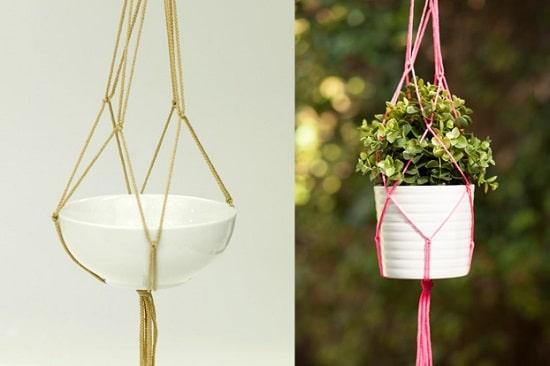 Basic Macrame Pot Hanger