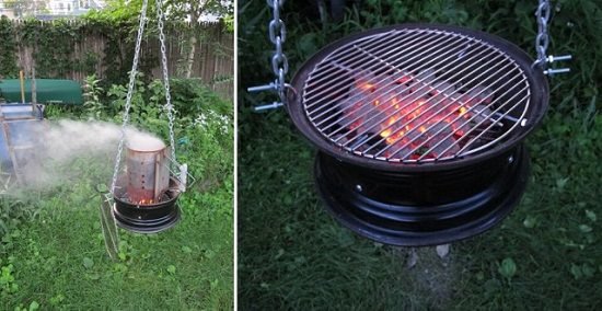 Hanging Barbecue Grill