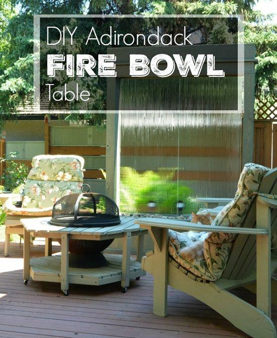 DIY Adirondack Fire Bowl Table