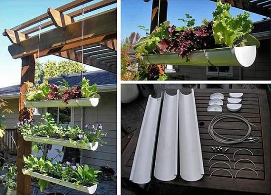 13 vertical diy rain gutter garden ideas for small spaces balcony gutter gardens can also be used as a privacy screen plus they provide planting space youll need pvc white gutters and a few other materials to complete workwithnaturefo