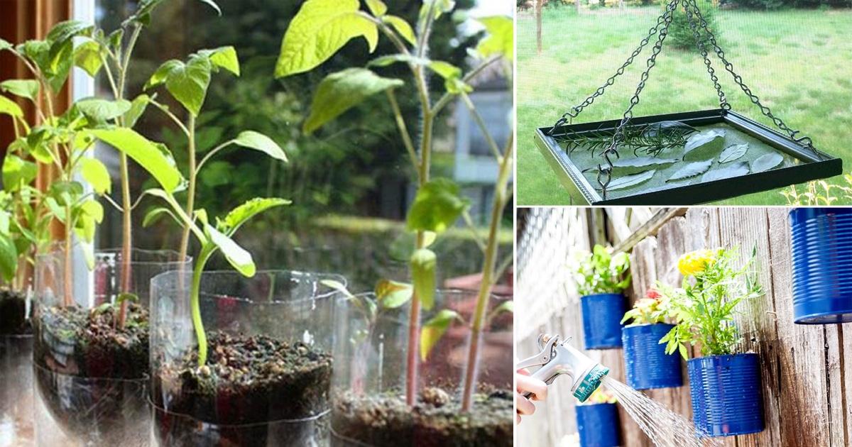 9 creative diy upcycle ideas for the garden balcony for Diy upcycle