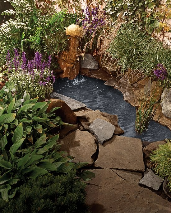 21 diy water pond ideas diy water gardens for backyards for Diy garden pond