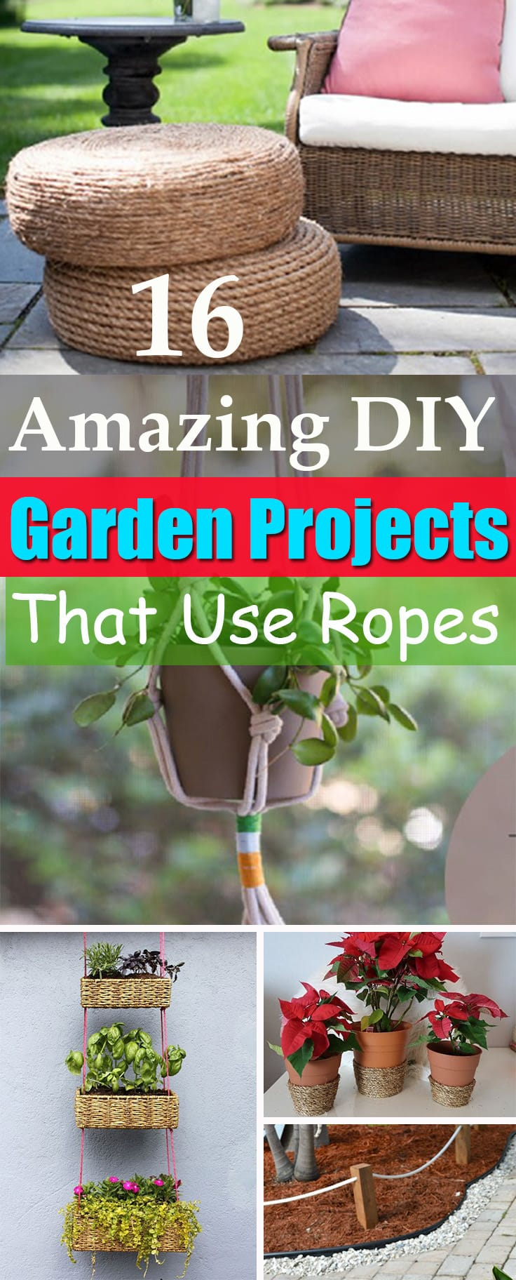 16 Diy Rope Projects And Ideas For The Garden Balcony