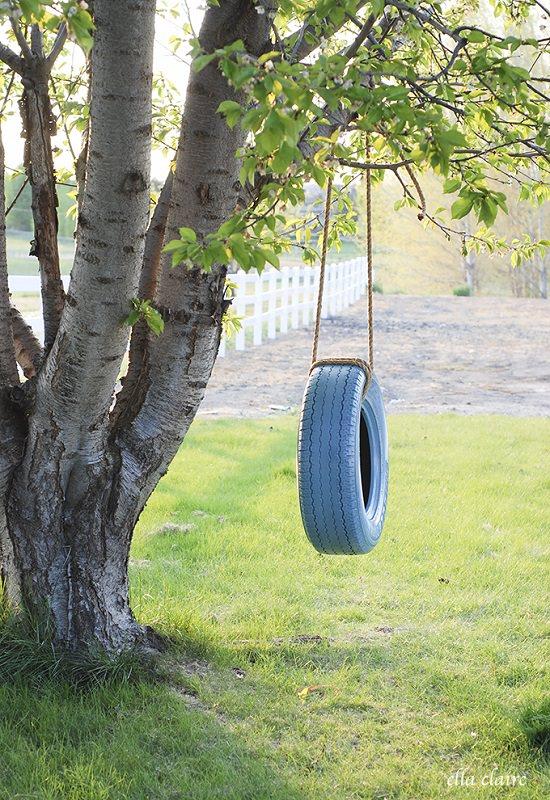 Easy Tire Swing