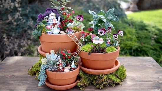 Create a captivating fairy garden in no time by following this quick and step by step fairy garden tutorial!