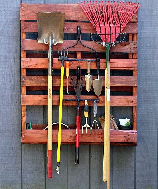 Organize Garden Tools In A Well Ordered Manner By Transforming A Wooden  Pallet Into A Garden Tool Rack. Get The Detailed How To At HGTV.