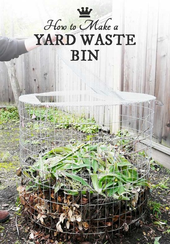 This Is A 2 Purpose DIY Bin That You Can Use Either As A Yard Waste Bin Or  As A Compost Bin. You Can Create This Project Using Wires And A Few ...