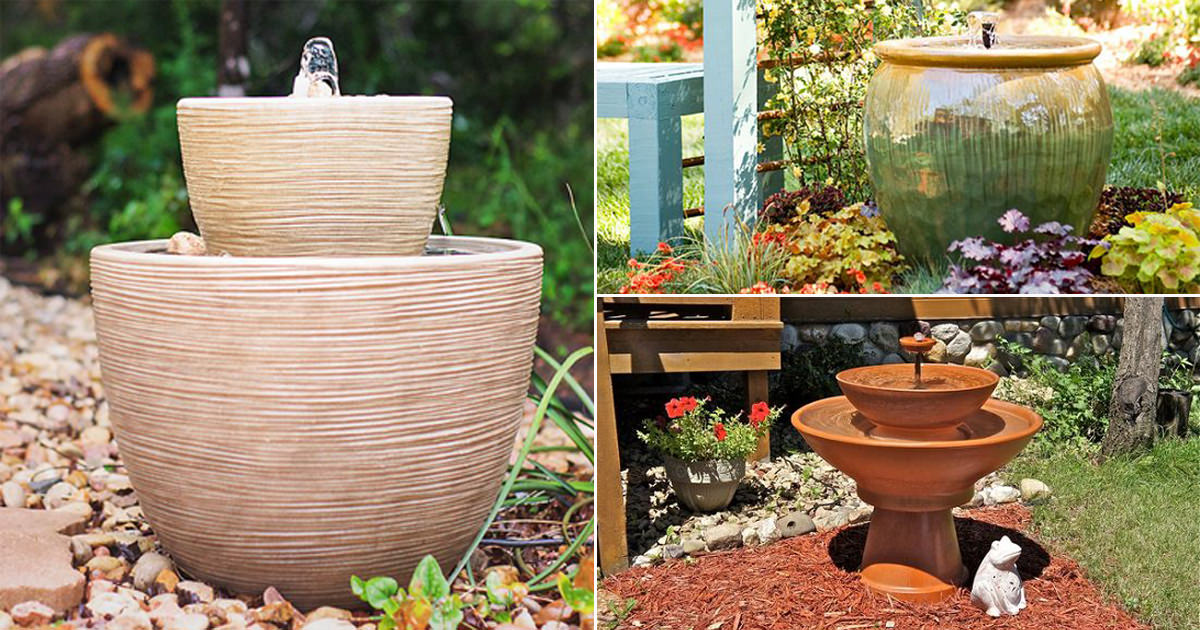 14 DIY Container Water Fountain Ideas That Are Easy And Cheap | Balcony  Garden Web