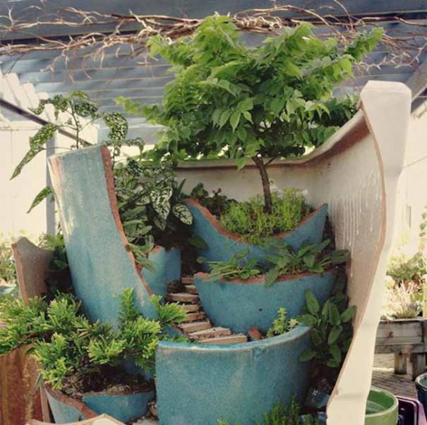How to Make Broken Pot Fairy Garden   Balcony Garden Web