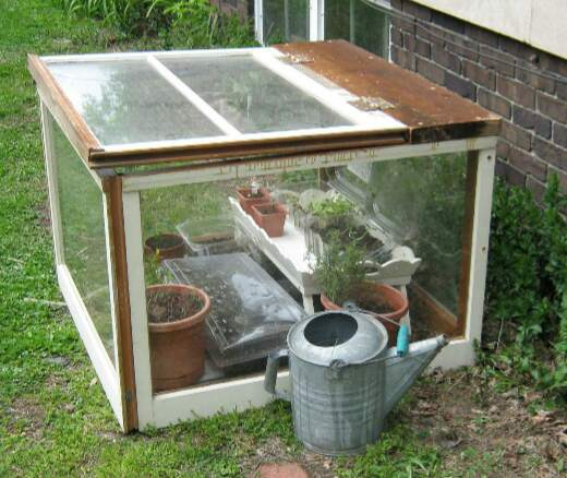 DIY patio greenhouse