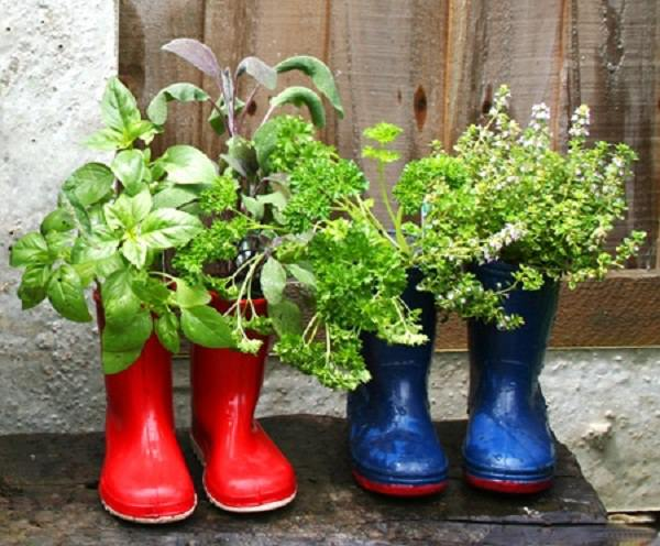 Boot Planter Balcony Herb Garden (4)_mini