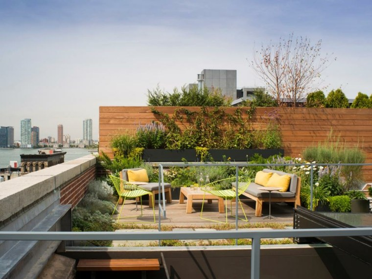 21 Beautiful Terrace Garden Images You should Look for ... on Terraced House Backyard Ideas id=47477