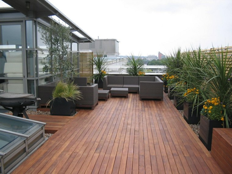 21 Beautiful Terrace Garden Images You should Look for ... on Backyard Landscape  id=27674