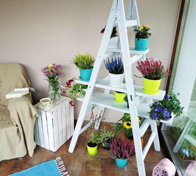 official photos 631ee 307f4 DIY Ladder Shelf | Ladder Plant Shelf for Garden
