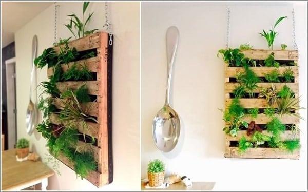 Beau Pallet Herb Garden 9