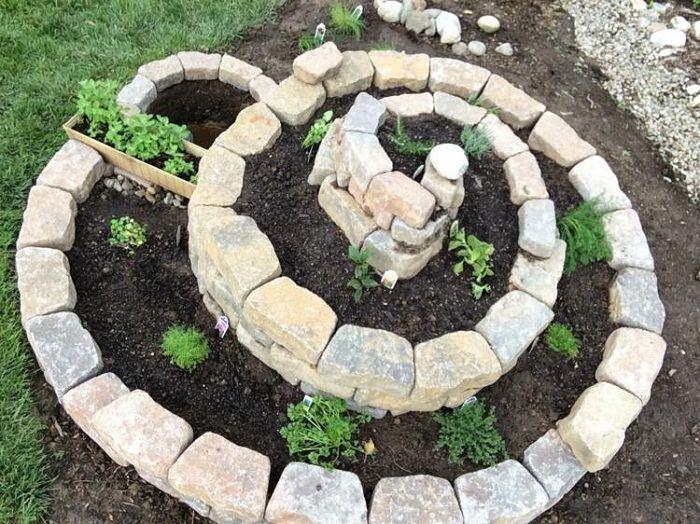 Image result for spiral shape Garden