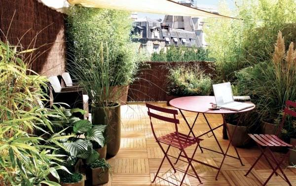 Use Bamboo Mat To Cover Terrace For Privacy Quickly And Easily. Bamboo Mats  Look So Natural And Ideal For A Garden Like Setting On A Rooftop.