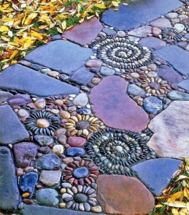Making A Wonderful Garden Path Ideas Using Stones: 19 DIY Garden Path Ideas With Tutorials
