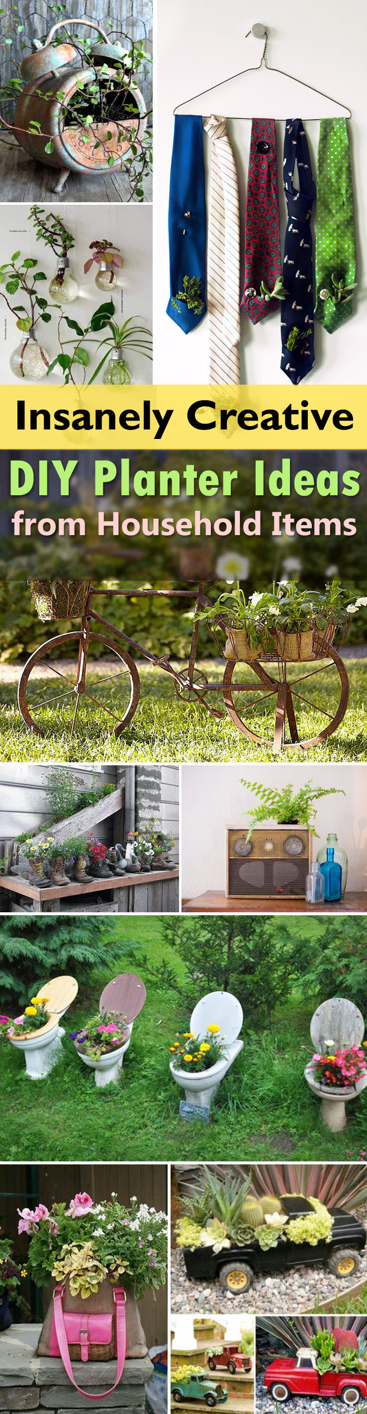 See These 29 Insanely Creative Planter Ideas That You Can Make From  Household Items With Their