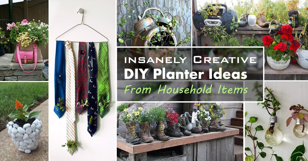 29 Insanely Creative DIY Planter Ideas from Household Items