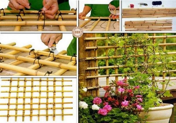 Visit OBN To Check Out The Step By Step Tutorial Of DIY Bamboo Trellis.